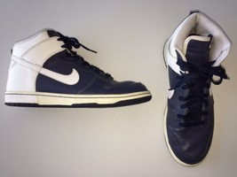 Nike Dunk High 2006 309432-411 VP Navy Blue White Leather Size 11 Euro ... - $77.35