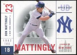 2001 Upper Deck Legends of New York #103 Don Mattingly - $3.00