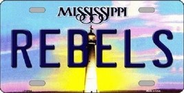 "NCAA Ole Miss Rebel License Plate State Background Metal Tag Mississippi U.S.A."" - $11.34"