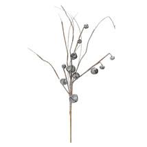 "Napco 30"" Glittered Galvanized Jingle Bell Twig Artificial Christmas Spray - $7.66"