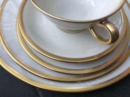Lenox Tuxedo 5-piece Dinnerware Set Dinner Salad Dessert Plates Cup & Sa... - $74.25