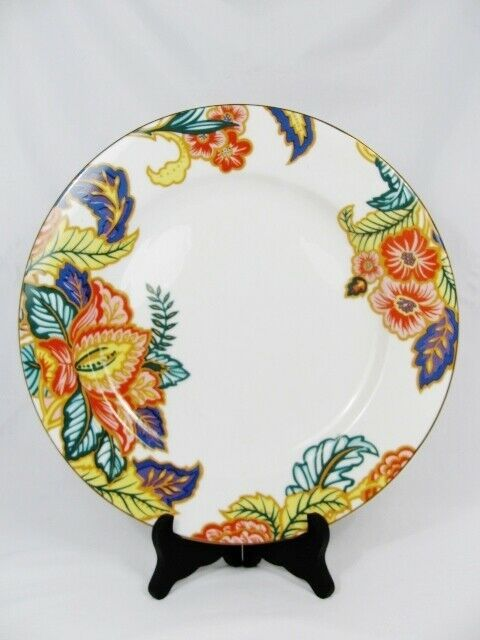 Primary image for American Atelier Round Serving Platter Cake Plate Canton Road Floral Leaves 12""