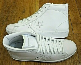 Converse Mens PL 76 Mid Leather Basketball Shoes Classic Triple White Size 9   image 2