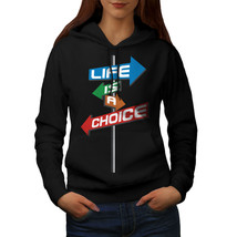 Choice Life Path Slogan Sweatshirt Hoody  Women Hoodie - $21.99+