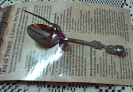 Vintage Harvest House  Stainless Rose Handled Demi Spoon / Tea Spoon Gift - $10.00