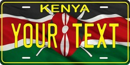 Kenya Flag License Plate Personalized Custom Auto Bike Motorcycle Tag - $10.59+