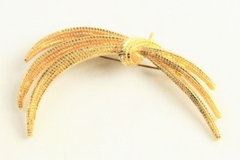 Vintage Jewelry Monet Gold Metal Modernist Swag Brooch - $10.00