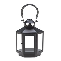 Black Hexagonal Candle Lantern - $14.42