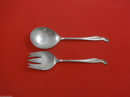 "Silver Surf by Stieff Sterling Silver Salad Serving Set All Sterling 8 5/8"" - $247.10"