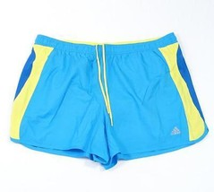 Adidas Blue & Yellow Athletic Short with Brief Liner Womans Extra Large ... - $25.98