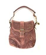 Gorgeous COACH Distressed Burgundy Leather Shoulder Bag - $76.00