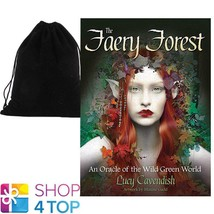 THE FAERY FOREST ORACLE CARDS DECK ESOTERIC BLUE ANGEL WITH VELVET BAG NEW - $41.47