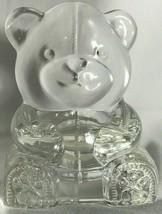 PARTYLITE Teddy Bear Votive Tea Light Figurine Glass Candle Holder - $10.00