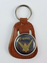 Vintage Ford T Bird Leather Keychain Key Ring FOB Brown - $18.69