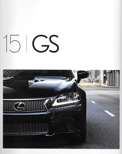 Primary image for 2015 Lexus GS 350 F SPORT sales brochure catalog 15 US