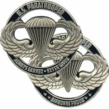 "ARMY PARATROOPER AIRBORNE PROUD ALWAYS EARNED NEVER GIVEN 1.75"" CHALLENG... - $16.24"