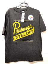 NWT NFL MEN'S Pittsburgh Steelers Gray AFC NORTH Football fan T-Shirt L-XL - ₹1,077.86 INR