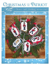 Christmas For The Patriot sleds cross stitch chart Sue Hillis Designs  - $10.80