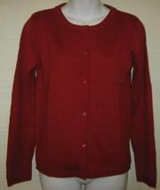 NWT Izod Schoolwear Red Cardigan Sweater Girls L 14/16 Uniform - $7.42