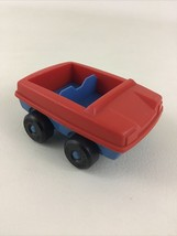 Playskool Familiar Places McDonald's Playset Parts Vintage 1974 Car Red Blue Toy - $13.32
