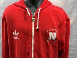 Adidas Nebraska HUSKERS Hooded Fleece Jacket Men's Size XL - $19.79