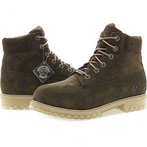Timberland Juniors 6-Inch Premium Waterproof Olive Green Suede Boots A1BL4 - $79.99
