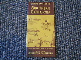 Old Vintage Where to Stay in Southern California Hotels Motels Resorts B... - $14.99