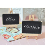 Chalkboard Easel Birthday, Baby, Bridal Shower, Wedding Favor Place Card... - $88.09 CAD+
