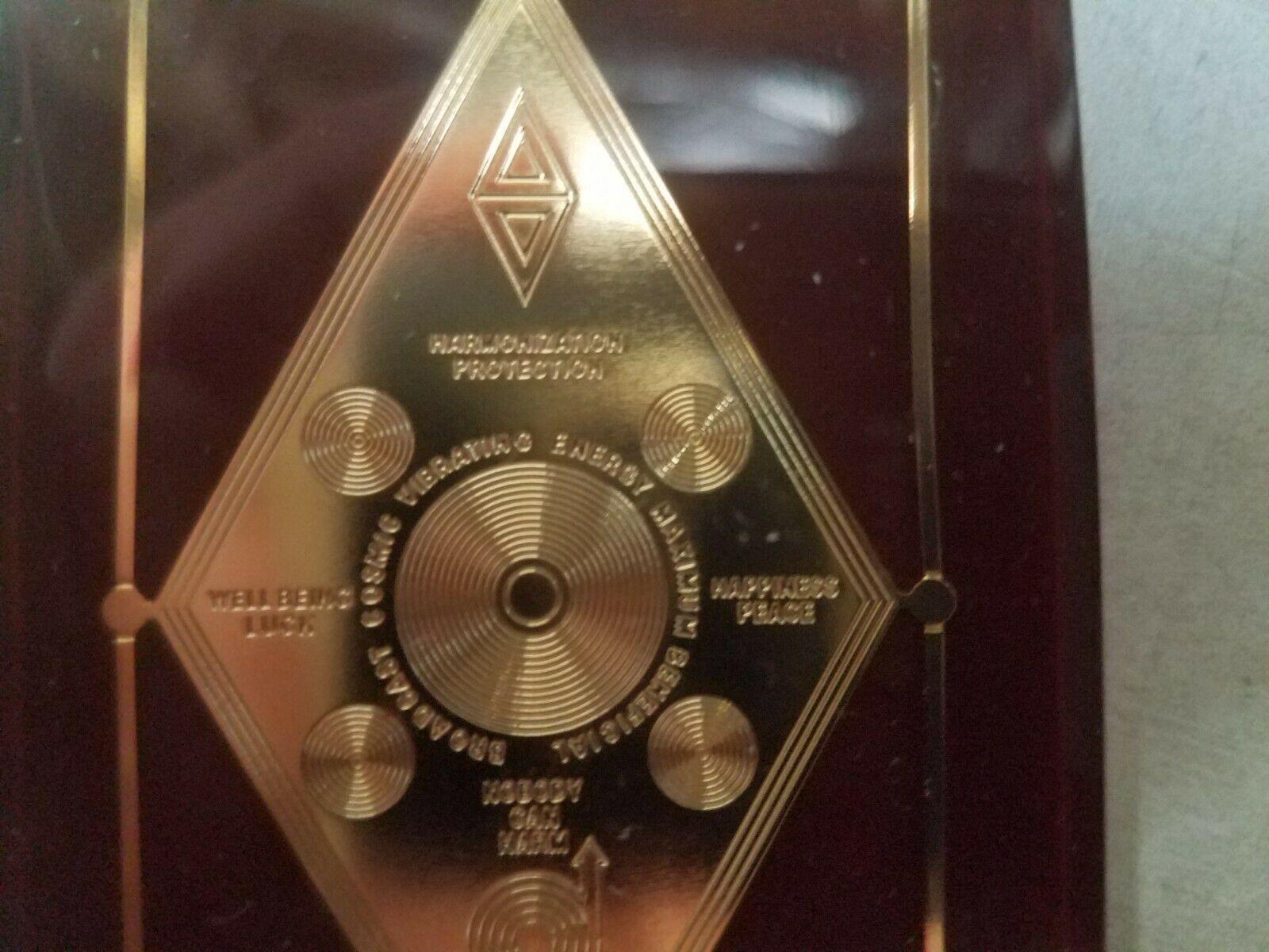 Harmonization Universal Protector Talisman in Lucite Charm Healing Reiki image 3