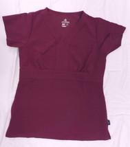 Scrub Top Jockey 2216 Womens Trapunto Empire Medical Uniform Plum Berry S New - $19.37