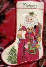 Janlynn Santas Toys Christmas Eve Old Fashioned Cross Stitch Stocking Kit 00347 - $54.95