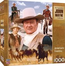 MasterPieces John Wayne America's Cowboy 1000 Piece Jigsaw Puzzle Standa... - $17.27
