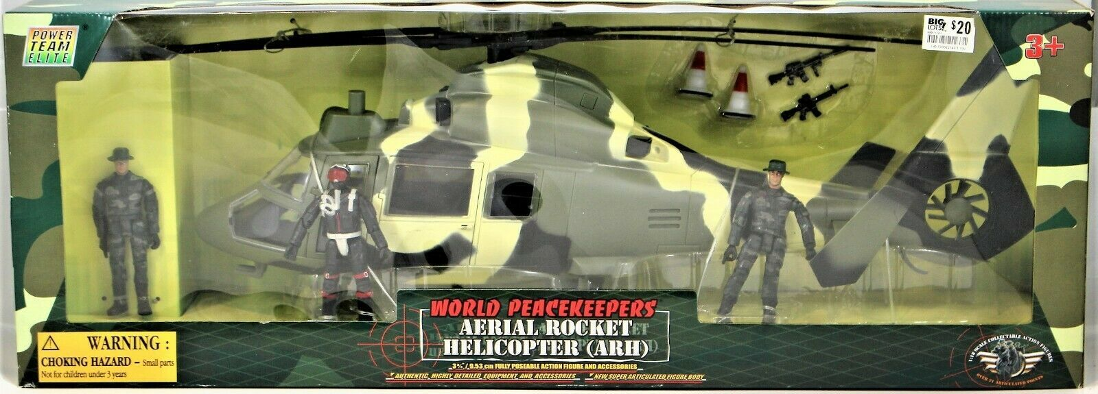World Peacekeepers Power Team Elite Aerial Rocket Helicopter (ARH) 1:18 Scale image 2