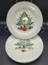 """5 Gibson Dinner Plates Christmas Tree with Packages China 10.25""""D - $77.25"""