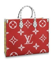 Louis Vuitton CABAS ONTHEGO Tote Shoulder Bag M44569 Red Giant Monogram ... - $4,175.25