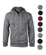 Men's Premium Athletic Soft Sherpa Lined Fleece Zip Up Hoodie Sweater Ja... - $24.74+