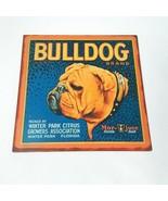 Winter Park Citrus Florida Bulldog Brand Metal Wall Hanging Sign Man Cave - $18.46