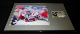 AJ Hawk Signed Framed 11x17 Photo Display UDA Ohio State OSU Packers - $52.00