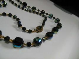 Vintage Signed GM Glass Bead Necklace  - $84.15