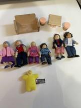 Melissa & Doug Ryans Room dollhouse Lot Wood furniture family grandma figures - $49.45