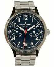 Lucky Brand Men's Jefferson Stainless Steel Bracelet J35 Quartz Watch 38mm NEW - $56.99