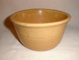 Pottery bowl  zanesville yellow ribbed serving bowl 7002 - $48.00