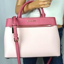 NWT Michael Kors Hailee Medium Satchel Leather Shoulder Bag Tulip Blosso... - $147.50