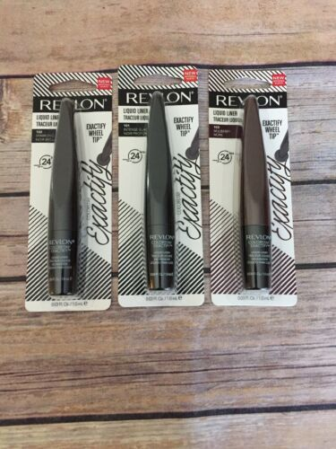 Primary image for 3 Revlon Exactify Liquid Eyeliner #102 , #101 Black and #103 Mulberry