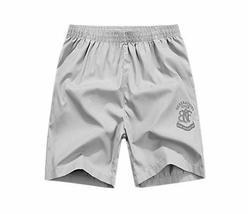 Nylon Solid Board Short for Men, Grey Sport Short, 29''-31''