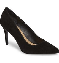 Chinese Laundry Ruthy Kid Suede Pointed Toe Pump in Black - $54.99
