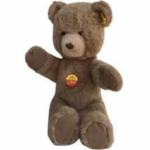 Vintage Steiff Germany Woven Plush Teddy Bear Tan Brown 0205/35 KNOPF IM... - $41.80