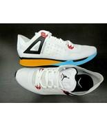 Nike Jordan Mens 89 Racer Running Training Shoes White Black Blue Gold S... - $84.14