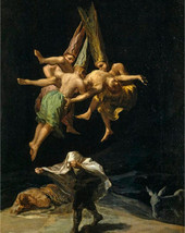 "Witches Flight by Francisco Goya, 1798, 8x10"" premium poster paper art p... - $12.49"