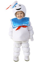 Ghostbusters STAY PUFT Marshmallow Man Costume Puffed Baby XS - $35.63